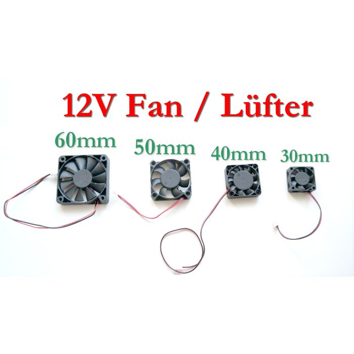 1x 12V quality fan cooler 2Pin connector