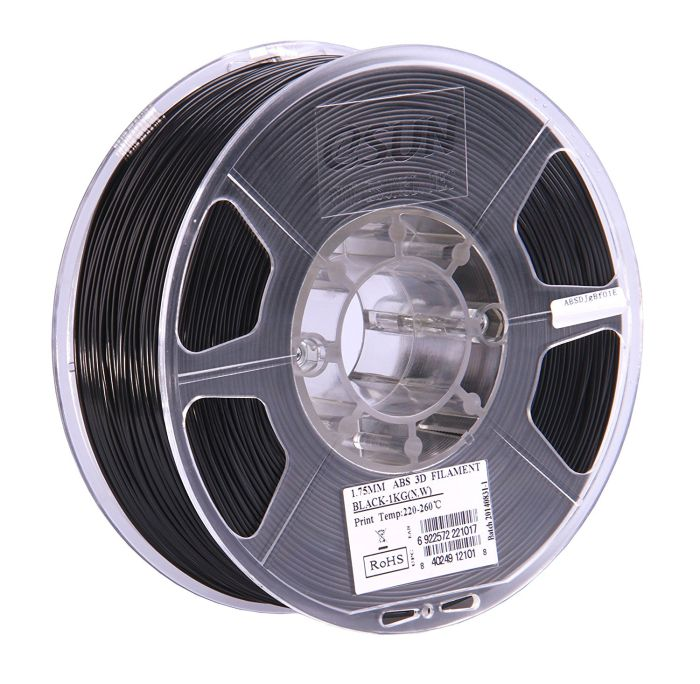 eSun ABS+ Filament black 1.75mm 1kg